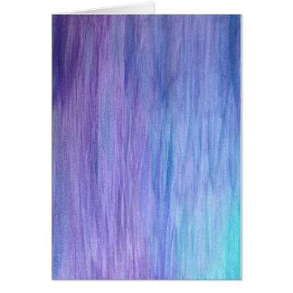 Purple Turquoise Fusion Card