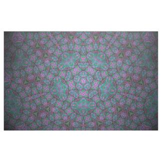 purple/turquoise kaleidoscope print fabric