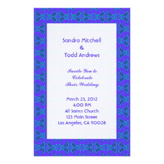 Purple Turquoise Tiki Wedding Stationery