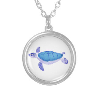 Purple Turtle Silver Plated Necklace