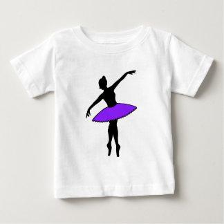 Purple Tutu Ballerina Ballet Dancer Dance Pointe Baby T-Shirt
