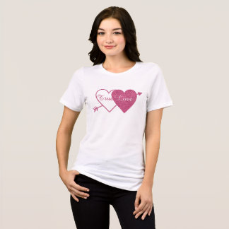 Purple Twin Hearts with Arrow Valentine's Day T-Shirt