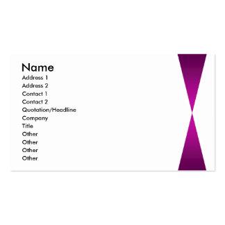 Purple Twin Peaks Pack Of Standard Business Cards