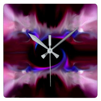 purple twist wall clocks