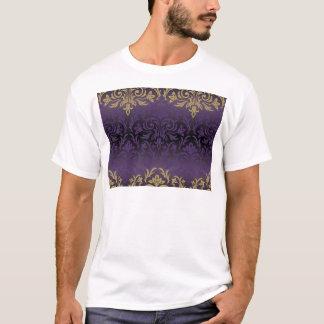 purple,ultra violet,damask,vintage,pattern,gold, T-Shirt