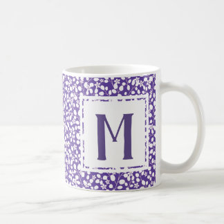 Purple Ultra Violet White Flowers Floral Branches Coffee Mug
