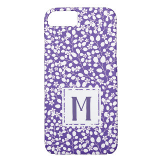 Purple Ultra Violet White Flowers Floral Branches iPhone 8/7 Case