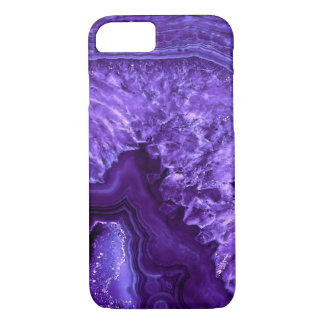 Purple Ultra Violett Agate Mineral Gemstone iPhone 8/7 Case