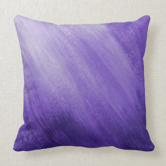 Purple ultraviolet graded wash art painted pillow