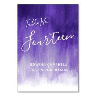 Purple ultraviolet modern art table number 14