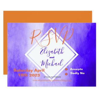 Purple / Ultraviolet Wedding RSVP Card