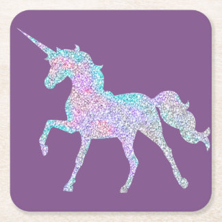 Purple Unicorn Coaster