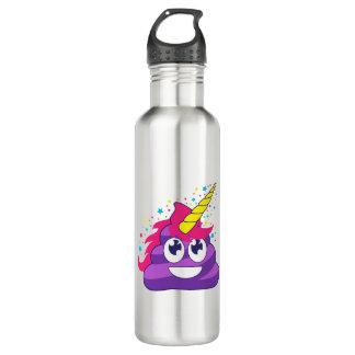 Purple Unicorn Emoji Poop 710 Ml Water Bottle