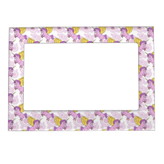 Purple Unicorn Graphic Magnetic Picture Frame