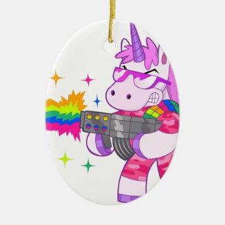 Purple Unicorn - Gun Ceramic Ornament