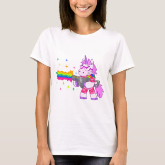 Purple Unicorn - Gun T-Shirt