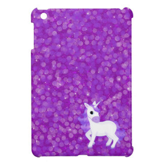 Purple Unicorn on Glitter Pattern Case For The iPad Mini