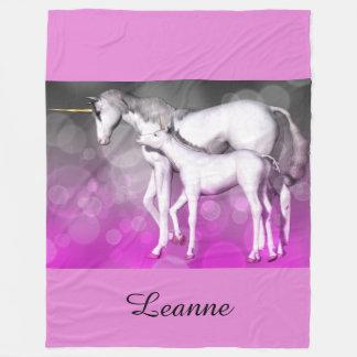 Purple Unicorn Personalised Fleece Blanket