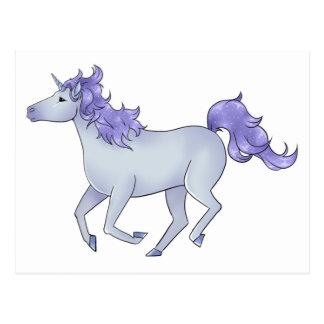 Purple Unicorn Postcard