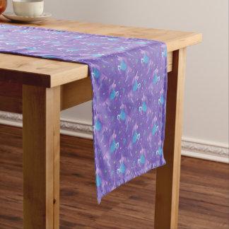Purple Unicorns Pink Stars Medium Table Runner
