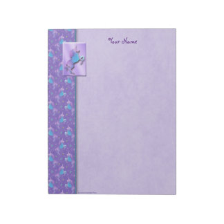 Purple Unicorns Pink Stars Notepad