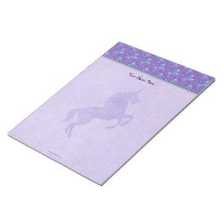Purple Unicorns Pink Stars Silhouette Notepads