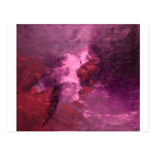"""PURPLE UNIVERSE ABSTRACT"" POST CARD"