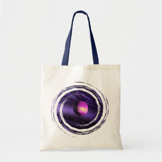 Purple Universe Space Abstract Tote Bag