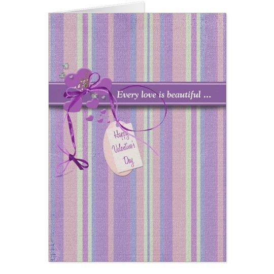 Purple Valentine Romance Card