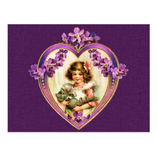 Purple Valentine's Day Postcard
