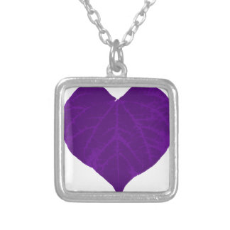 Purple Valentine's Heart Leaf Necklace