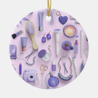 Purple Vanity Table Ceramic Ornament