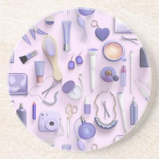 Purple Vanity Table Coaster