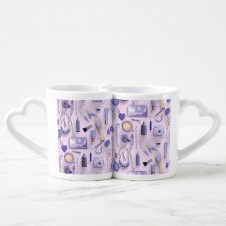 Purple Vanity Table Coffee Mug Set