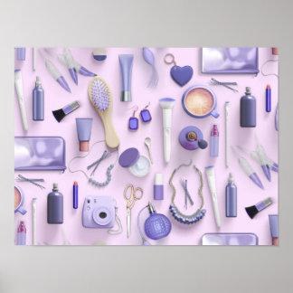 Purple Vanity Table Poster
