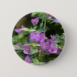 Purple Variegated Crepe and Myrtle 6 Cm Round Badge