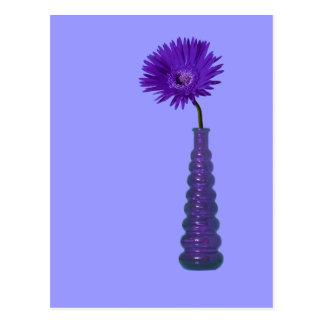 Purple Vase and Flower Postcard
