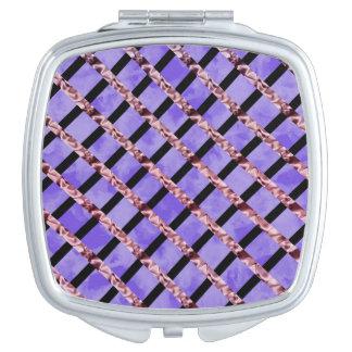 Purple Velvet Compact Mirror