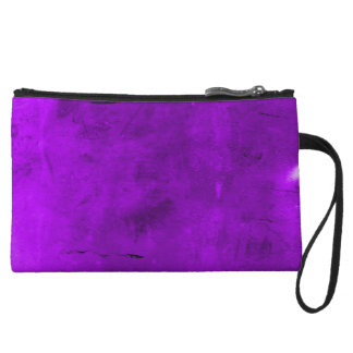 Purple Velvet Crush Grunge Clutch