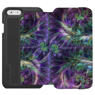 Purple Velvet Peacock Fractals Incipio Watson™ iPhone 6 Wallet Case