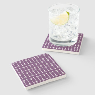 Purple Victorian Keys Stone Coaster