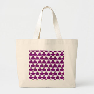 Purple Victorian Lace Large Tote Bag