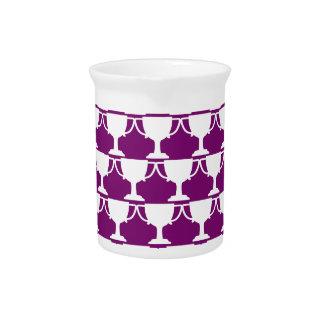 Purple Victorian Lace Pitcher