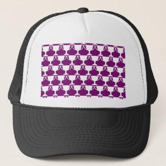 Purple Victorian Lace Trucker Hat