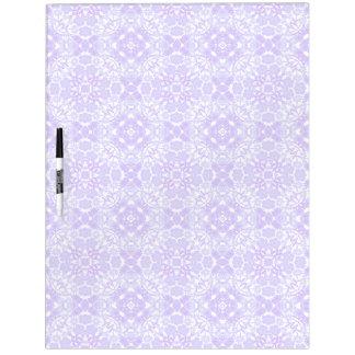 Purple Victorian Pattern Dry Erase Board
