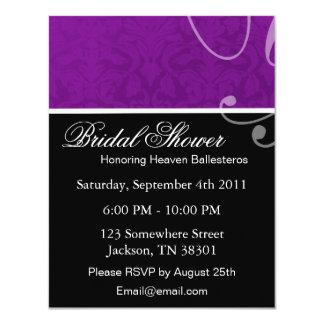 Purple Vintage Bridal Shower Invitations