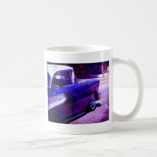 Purple Vintage Car Grunge Digital Art Coffee Mug