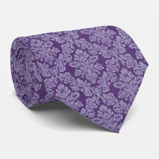 Purple vintage damask ornament textile pattern tie