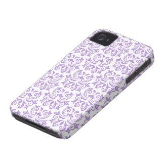 Purple vintage floral damask pattern case blackberry bold covers