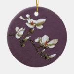 Purple Vintage Floral Magnolia